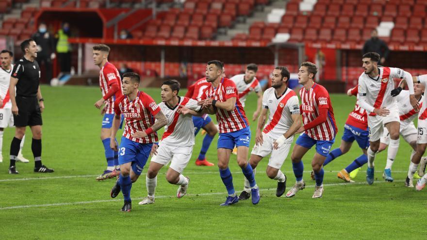 El Sporting empata ante el Rayo Vallecano en un final loco