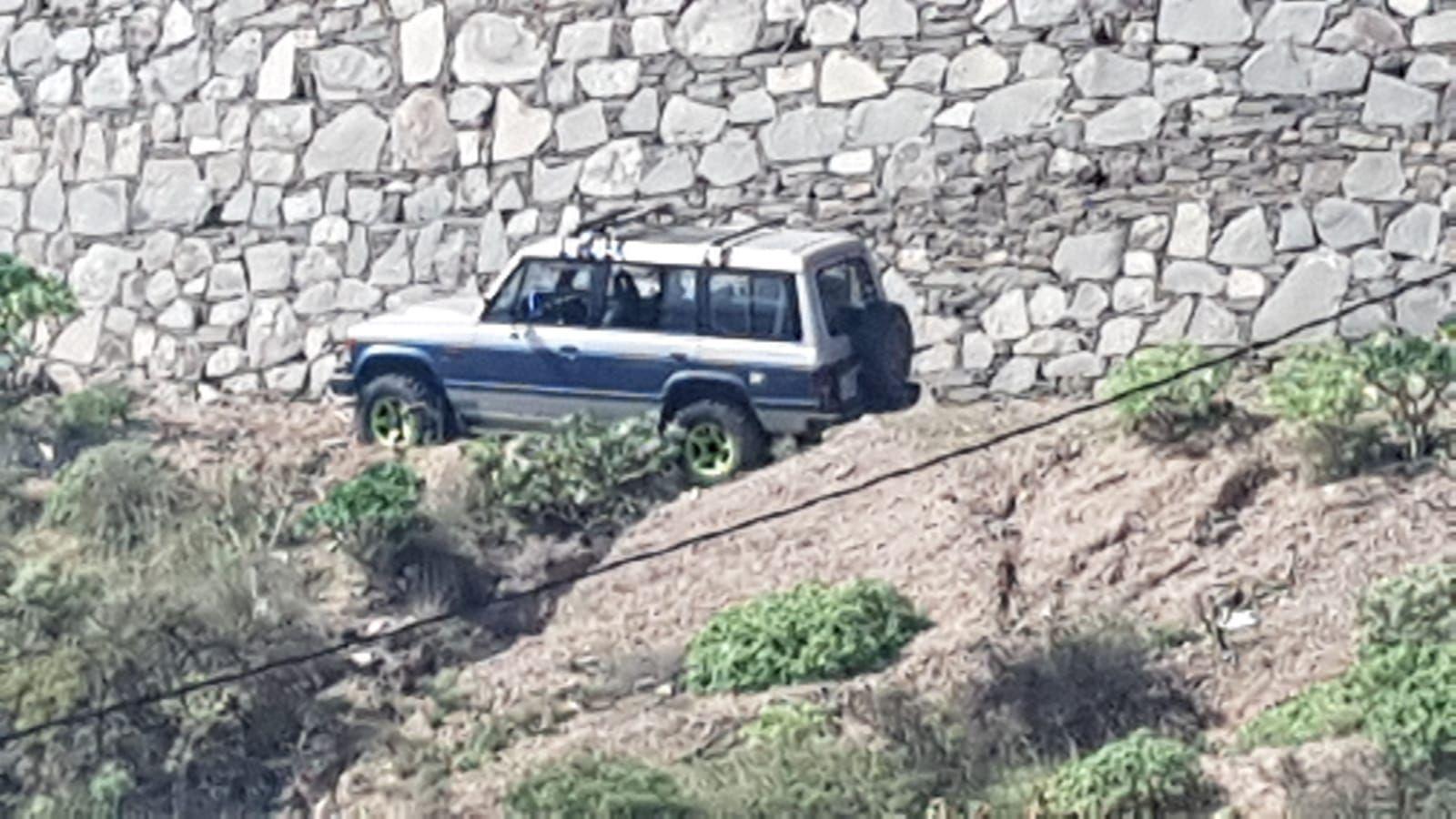 Un todoterreno se sale de la vía en Las Palmas de Gran Canaria
