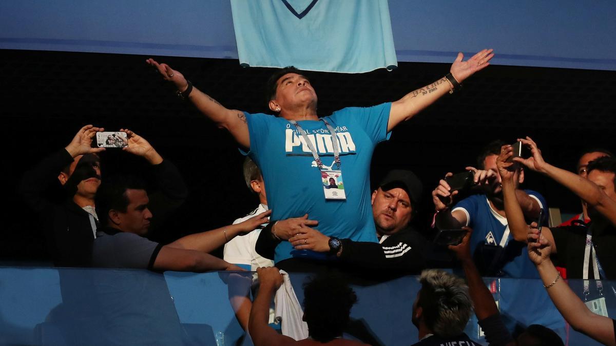 Diego Armando Maradona en una imatge d'arxiu