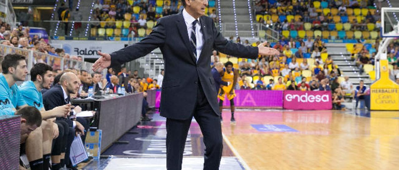 Salva Maldonado, en su última visita al Gran Canaria Arena; esta temporada con el Movistar Estudiantes.