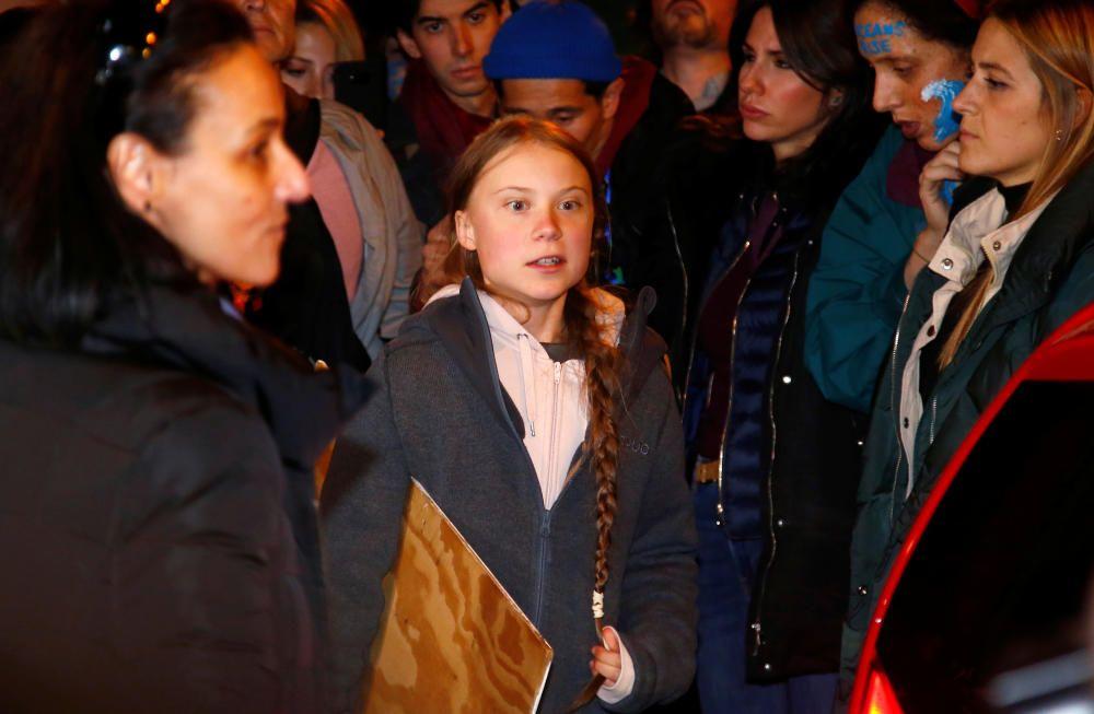 Greta Thunberg, en la Marcha por el Clima.