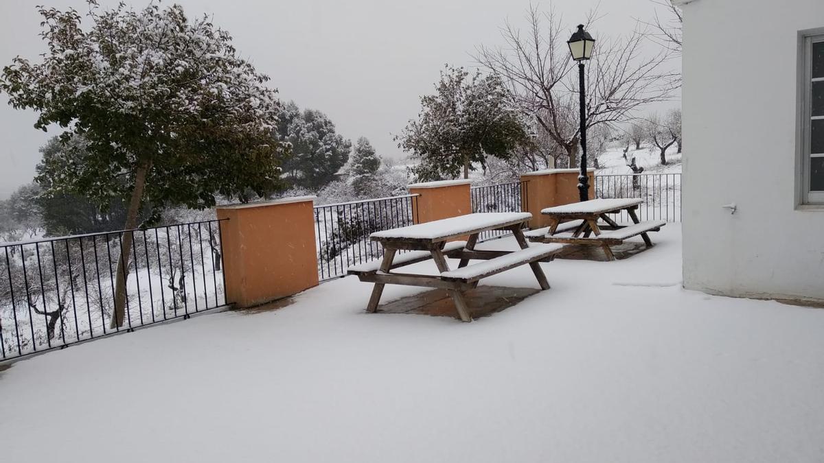 Nieve en Utiel