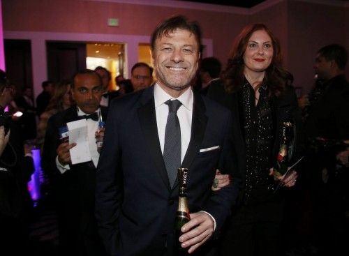 Actor Sean Bean enters the ballroom at the 73rd Golden Globe Awards in Beverly Hills