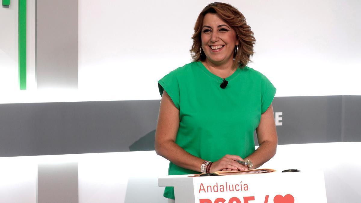 La expresidenta de la Junta de Andalucía, Susana Díaz.