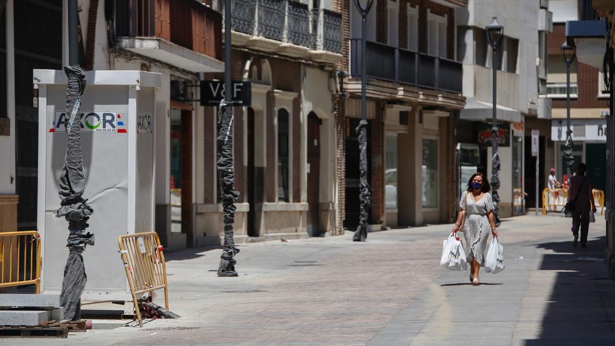 Aspecto de la calle Duque de Fernán Núñez tras las obras realizadas.