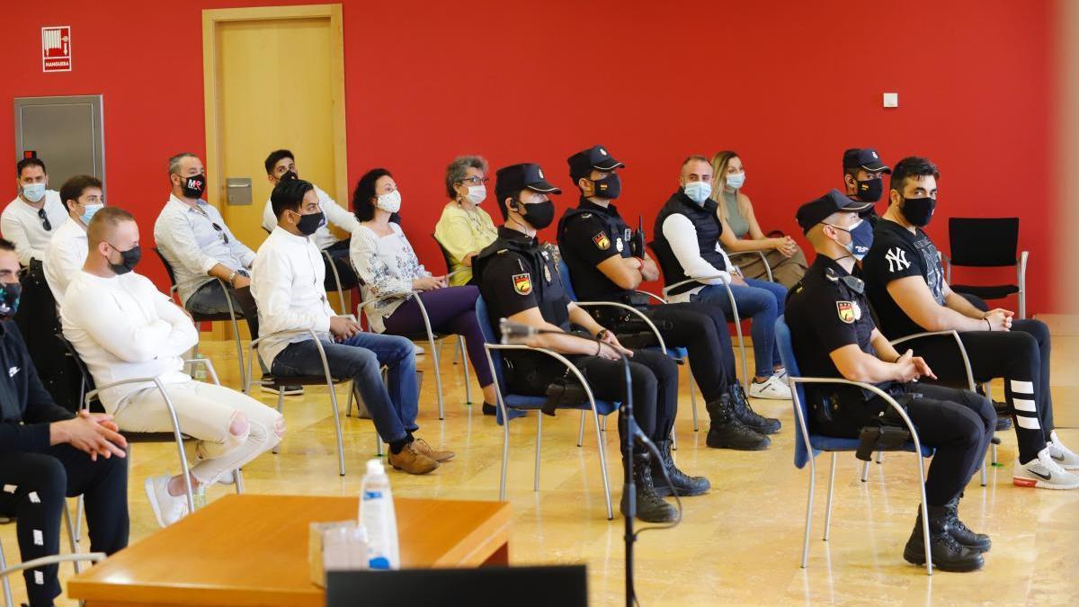 Sala de vistas del juicio de 'El Karateca', que ha sido aplazado varias veces y sigue sin empezar.