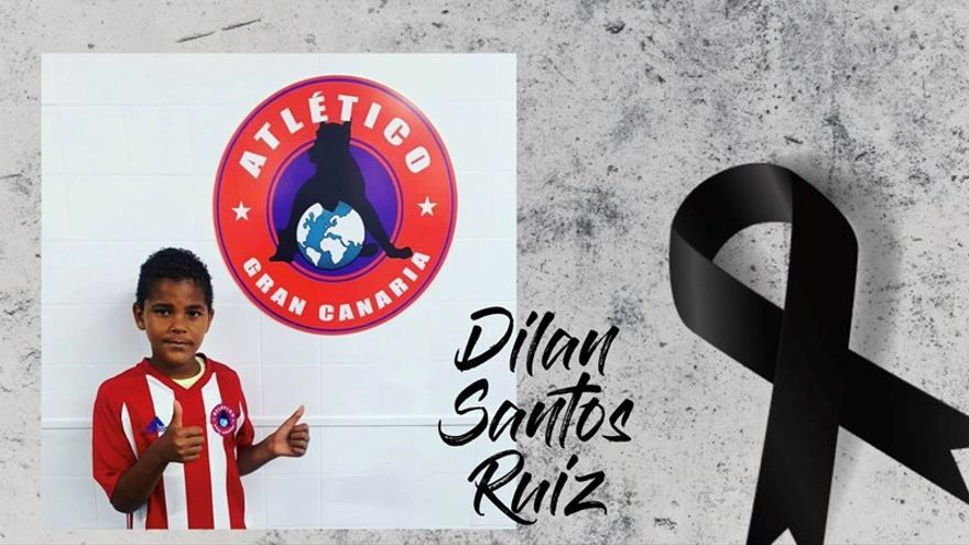 Luto en el fútbol grancanario por la muerte del benjamín Dilan, atropellado en Telde