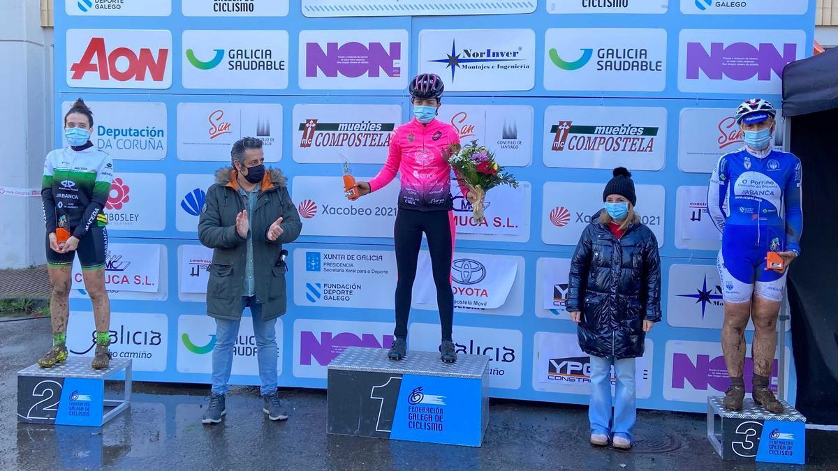 Irene Trabazo, en el podio.