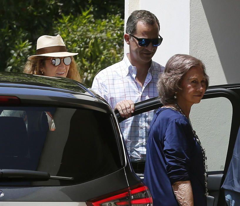 El Rey celebra el cumpleaños de Pilar de Borbón en Calvià