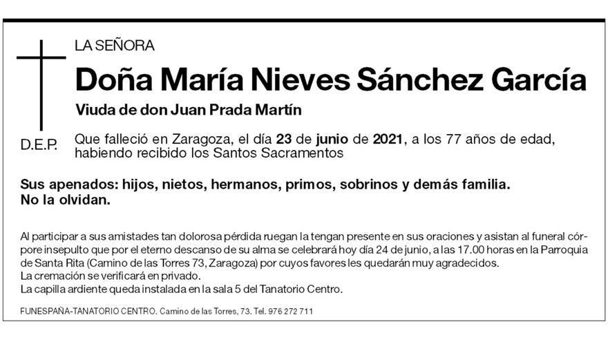 María Nieves Sánchez García