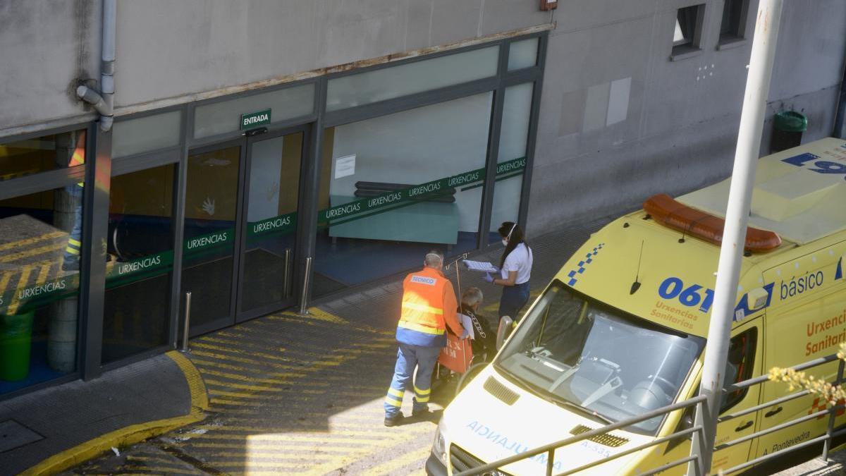 Área de Urgencias del hospital Montecelo de Pontevedra
