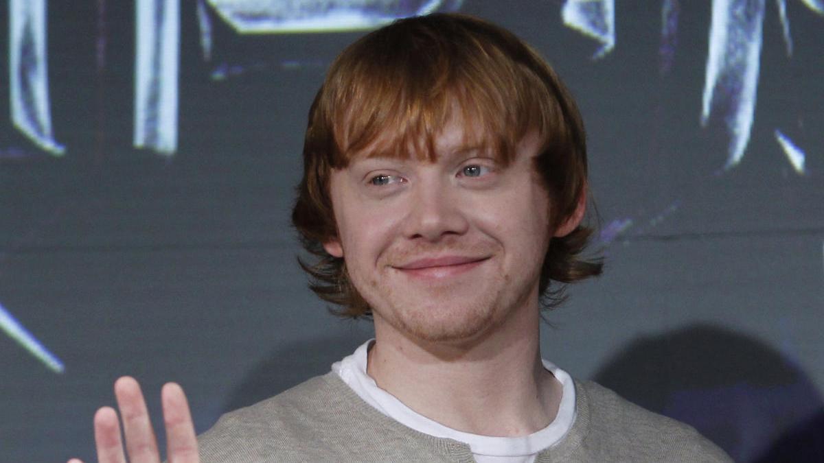El actor Rupert Grint que interpreta a Ron Weasley en Harry Potter.