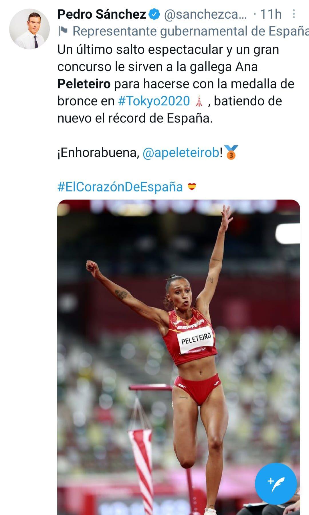 Este fue el mensaje del presidente del Gobierno, Pedro Sánchez.