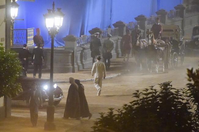Rodaje de la película Allied, en la Alameda de ...