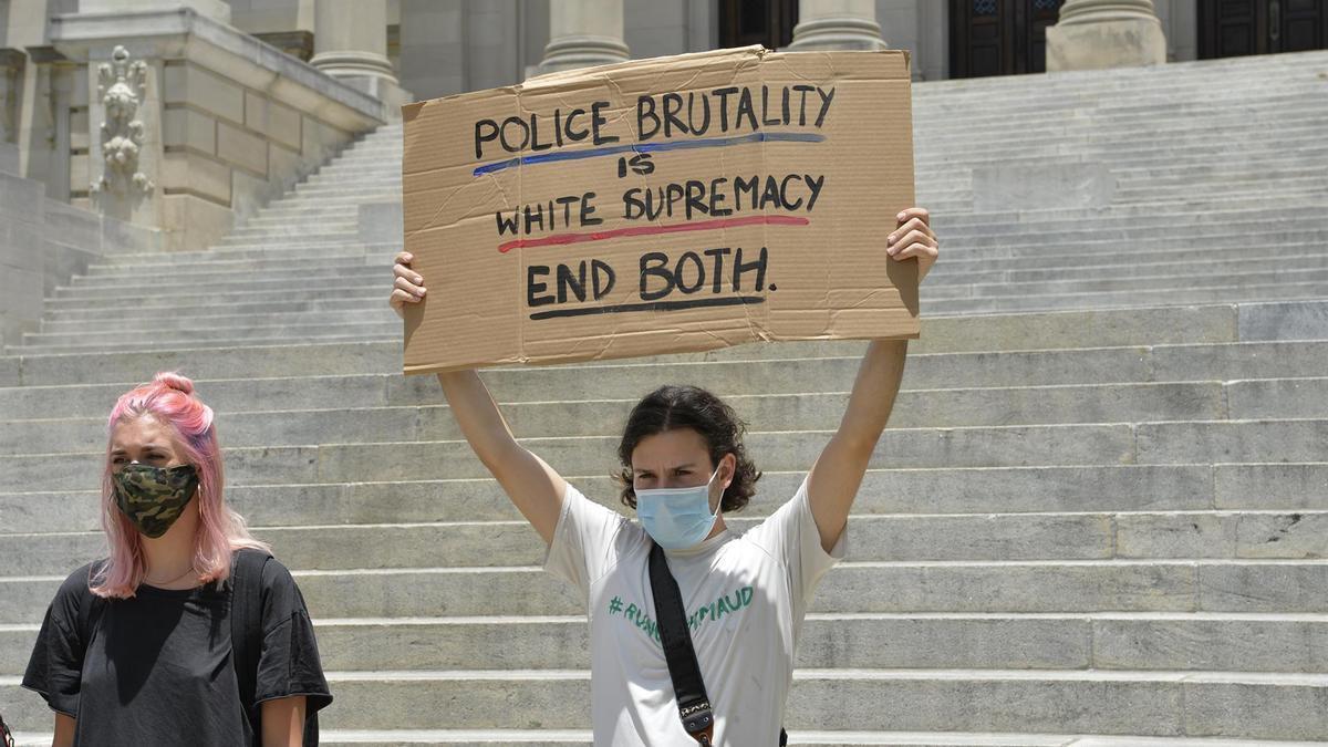 Protesta contra los abusos policiales en Estados Unidos.