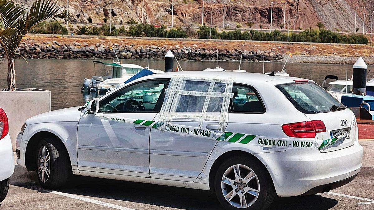 El coche de desaparecido en Tenerife.