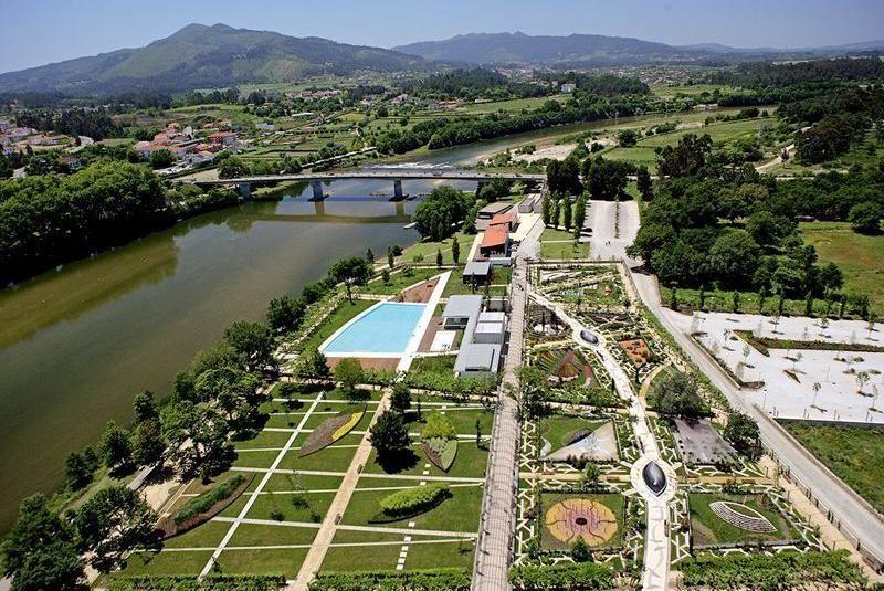 Vista aérea del recinto del Festival Internacional de Jardines de Ponte de Lima (Portugal)