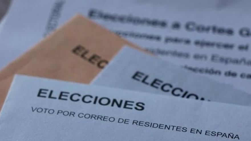 El voto por correo cae un 26,73% en las elecciones