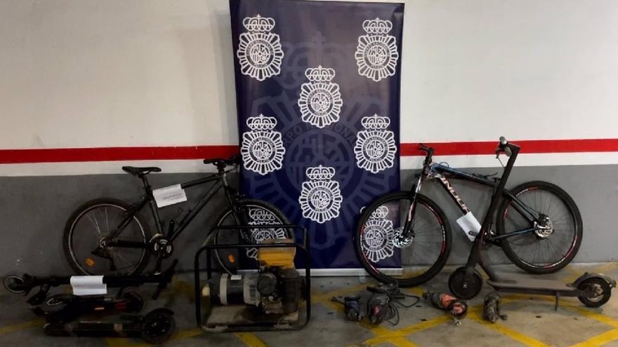 Detenido en Málaga por ocultar en un almacén de chatarra una motocicleta robada