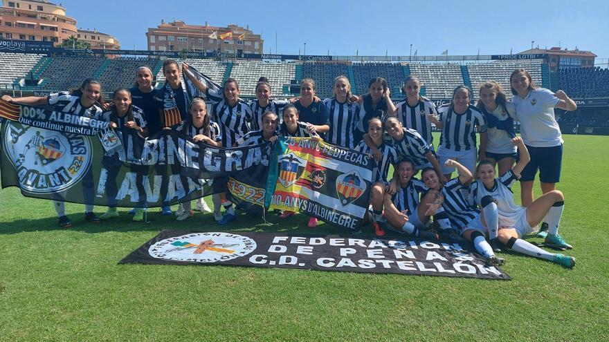 El CD Castellón femenino se estrena en Castalia con una goleada (3-1)