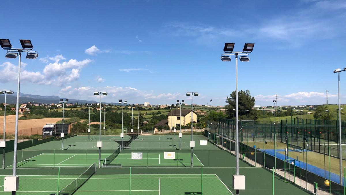 Imatge de les pistes de tennis i pàdel de Solsona