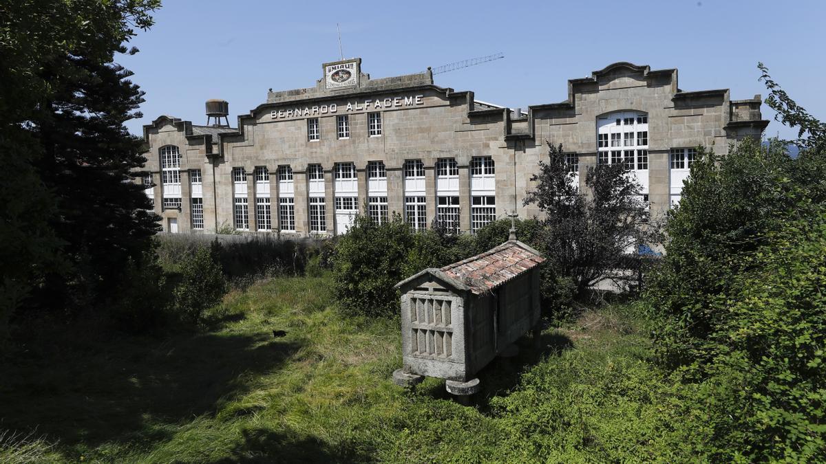Vista exterior de las instalaciones de la antigua Alfageme
