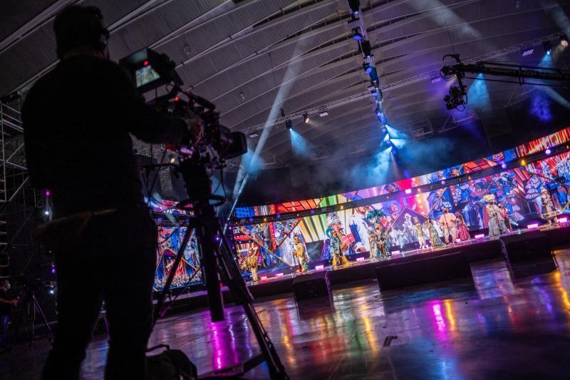 Actuaciones de las agrupaciones musicales del Carnaval en el recinto ferial