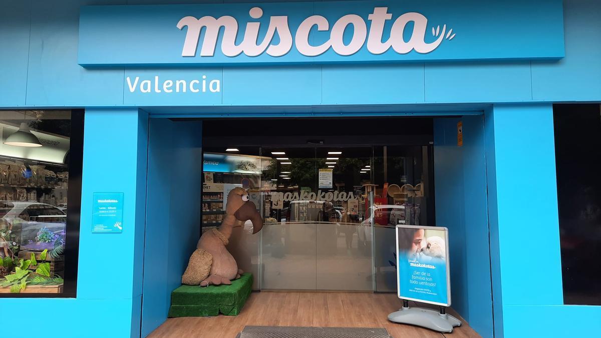 Establecimiento de Miscota en València.