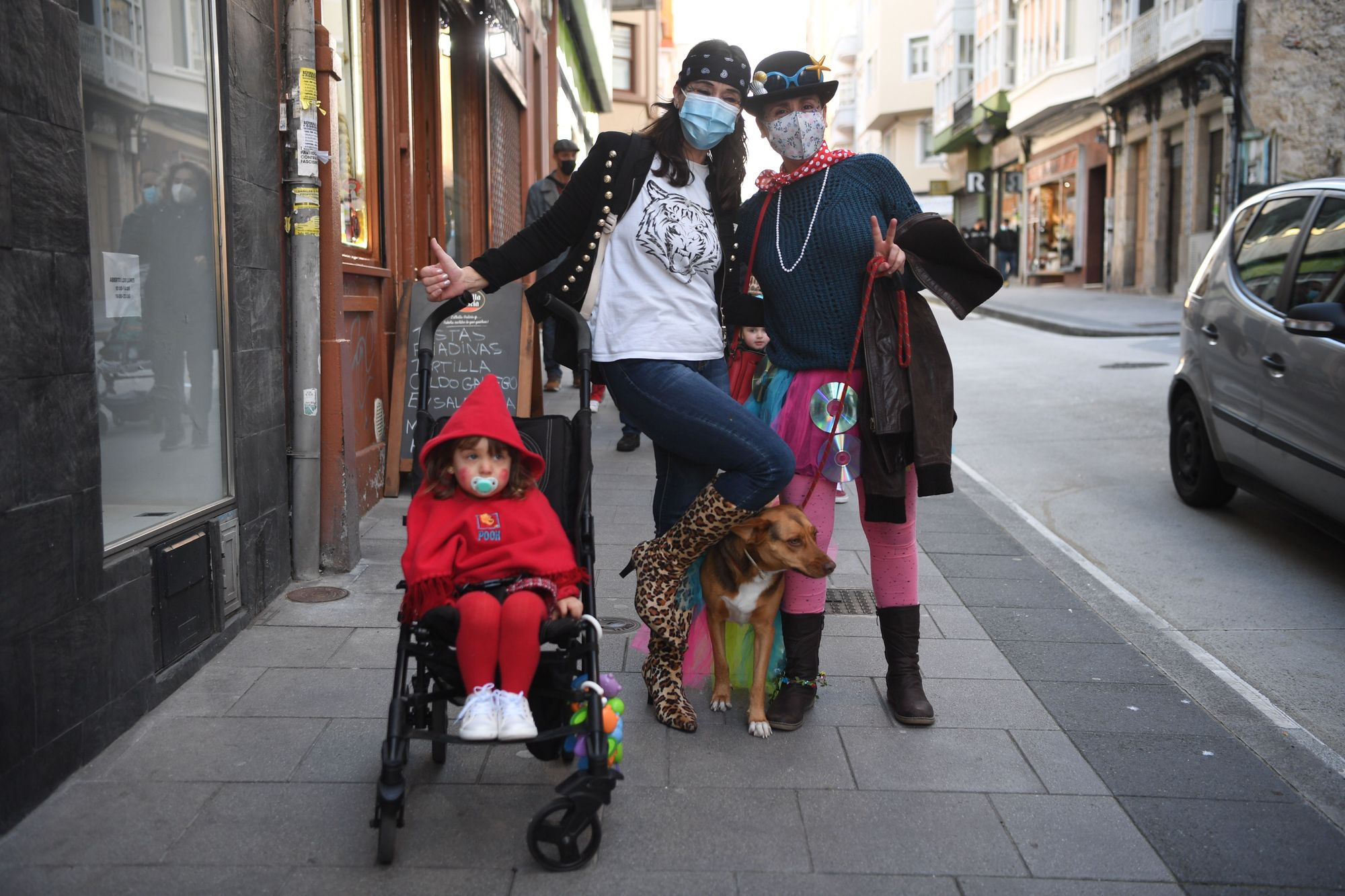 El Entroido de 2021, el menos 'choqueiro' en A Coruña