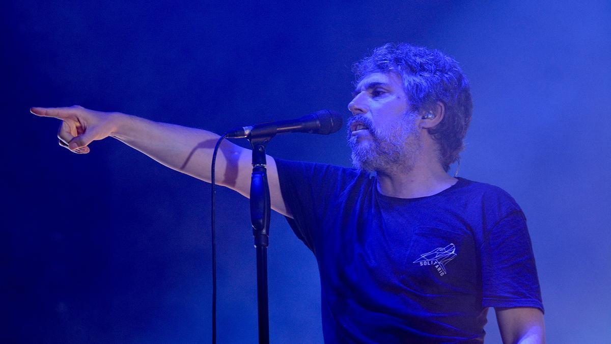 Iván Ferreiro, durante un concierto en Pontevedra en 2019
