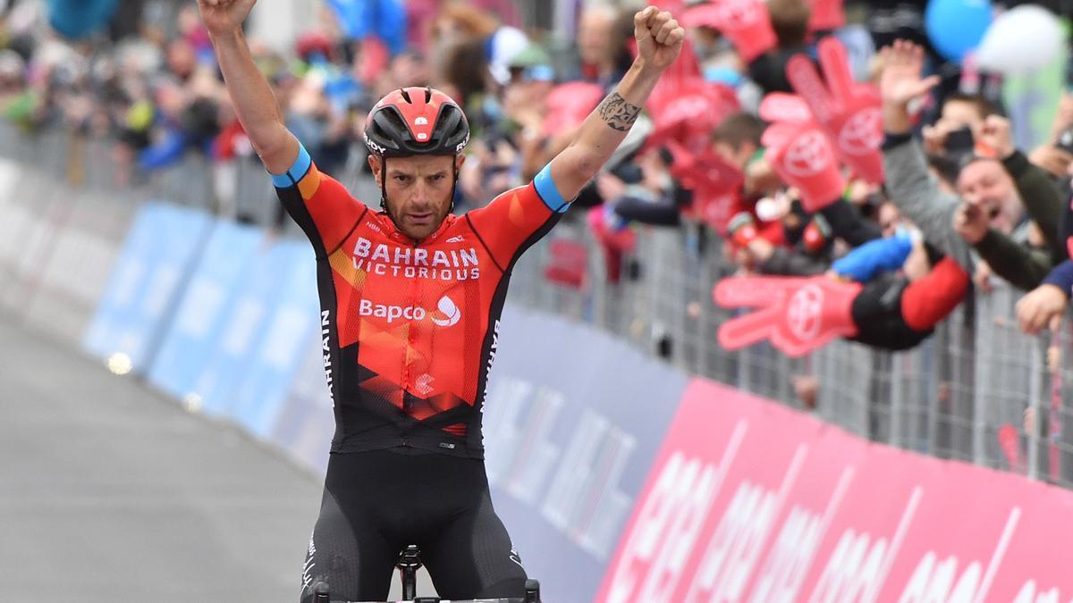 El ciclista, Damiano Caruso.