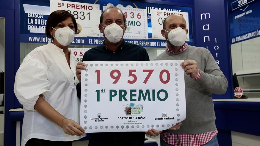 Manises se lleva dos millones del primer premio de la Lotería del Niño