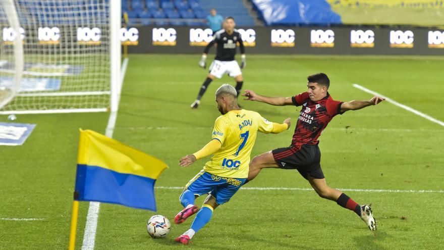 La UD Las Palmas se queda desnuda ante el Mirandés (0-2)