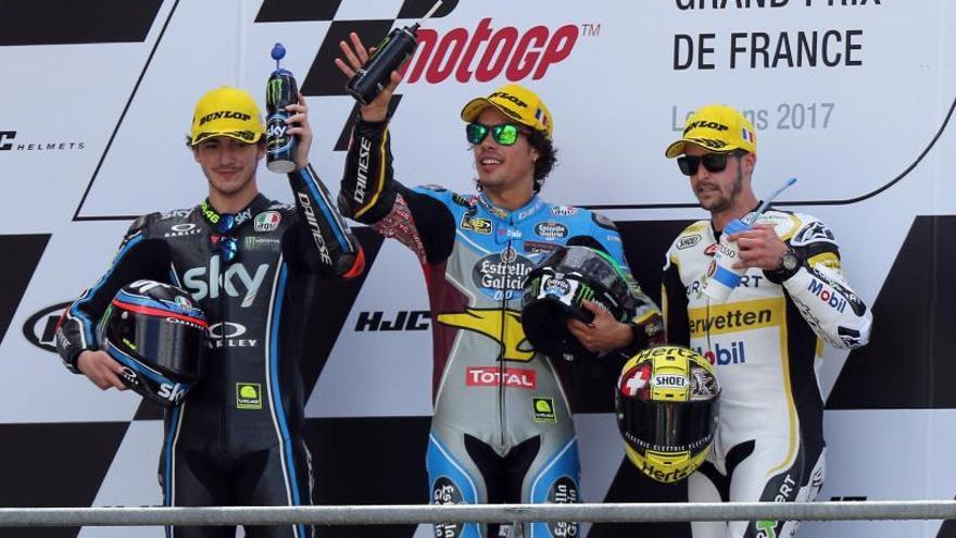 Morbidelli se impone en Moto2 y consolida su liderato