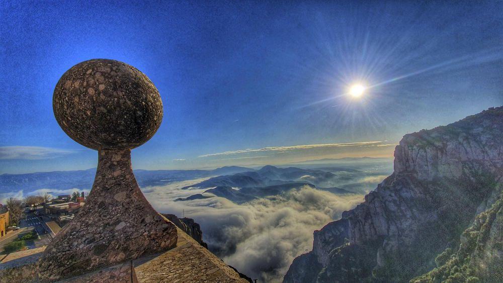Bonica albada a Montserrat.