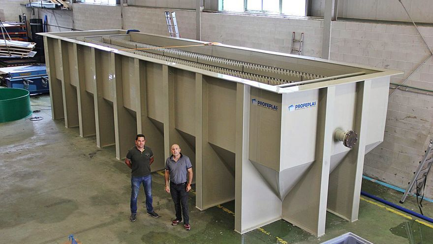 Profeplas desarrolla el decantador lamelar más grande fabricado en termoplástico