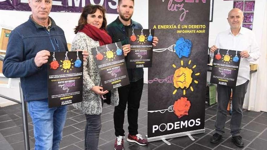 Podemos lanza una campaña contra la pobreza energética en A Coruña