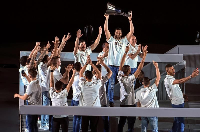 La fiesta de la Champions del Real Madrid