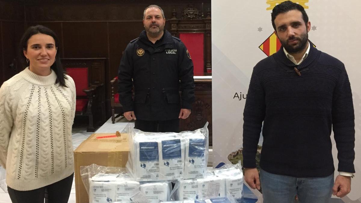L'Epicentre dona 10.000 mascarillas al Ayuntamiento de Sagunt