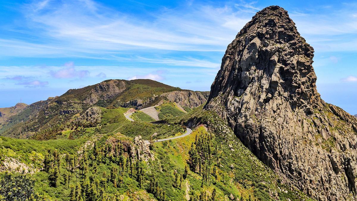 Roque de Agando, en el Parque Nacional de Garajonay, en La Gomera. ED