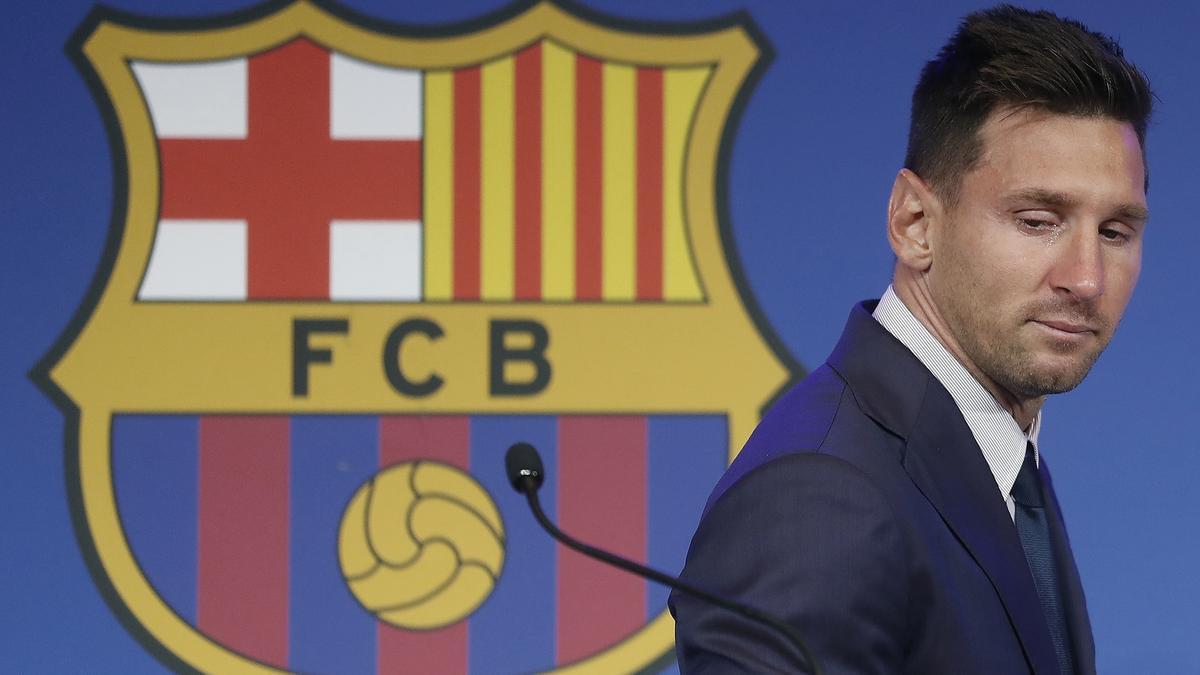 Leo Messi, in his farewell press conference.