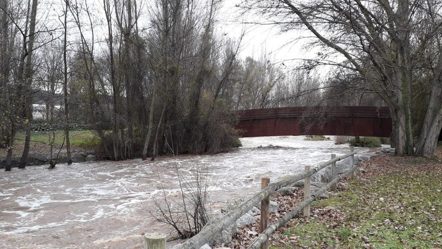 Una víctima de violencia de género cae al río Ebro al huir de su expareja en Logroño
