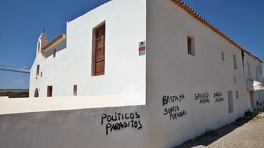 Vandalismo en una iglesia de Ibiza
