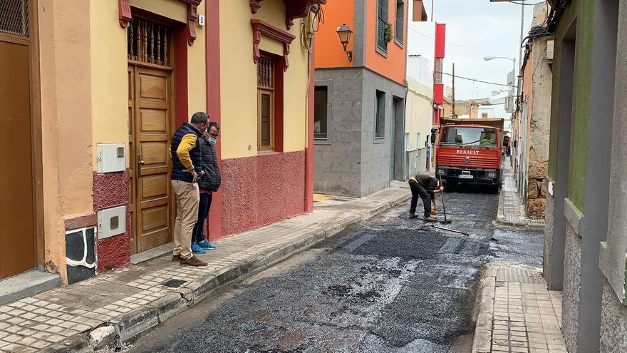 Comienza el reasfaltado de ocho calles de San Gregorio