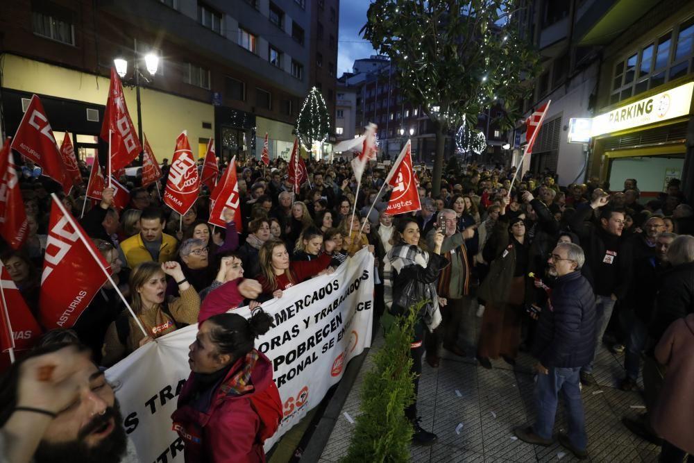 Concentración de respaldo a la huelga
