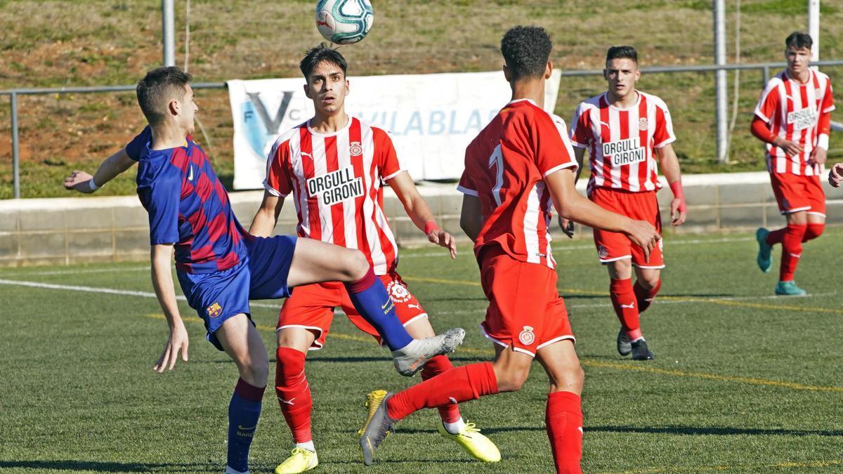 Un partit de la temporada passada del Girona juvenil.