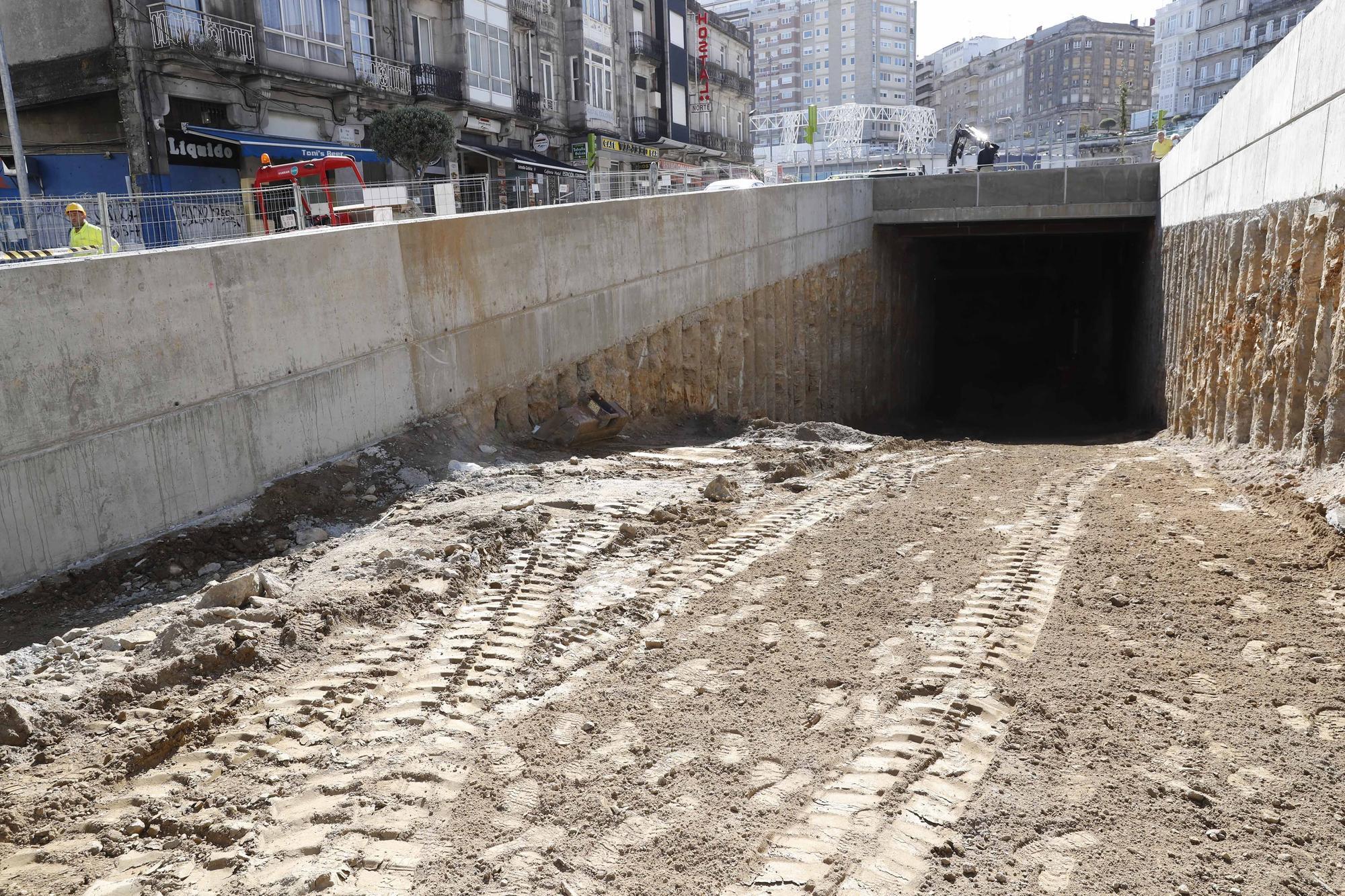 Vigo ya se asoma a la AP-9 bajo tierra