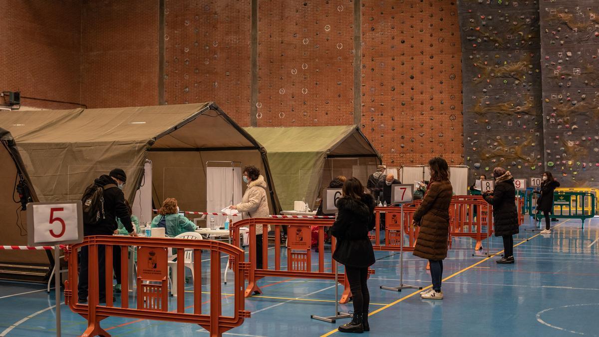 Realización de pruebas de antígenos para detectar casos de coronavirus en Zamora