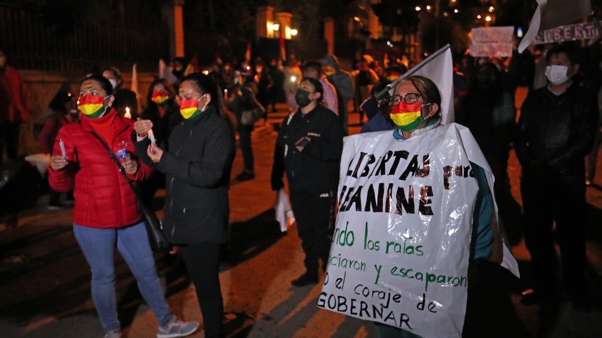 Una de las manifestaciones en Bolivia.