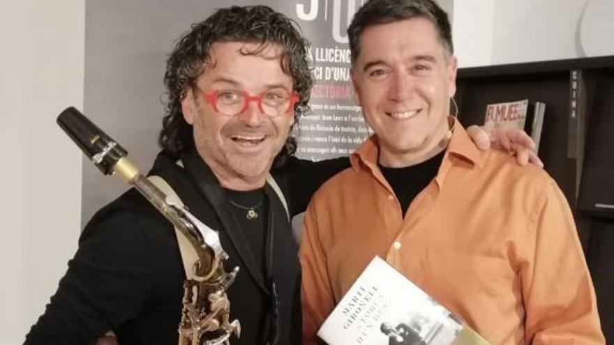Martí Gironell i Pep Poblet Tast de vins amb «La força d'un destí»